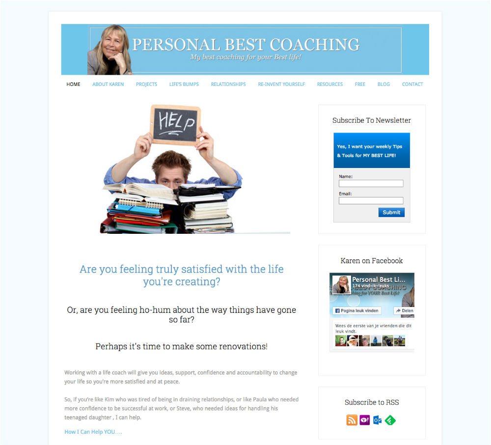 Personal Best Coaching Website