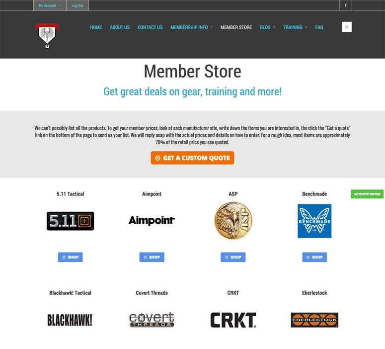 Project CCRT: Members Only Store