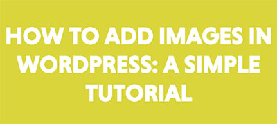 add images to wordpress